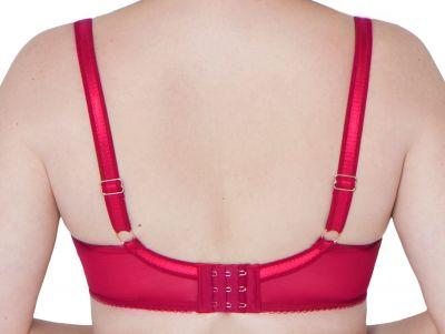 Surrender Plunge syvään uurretut rintaliivit punainen