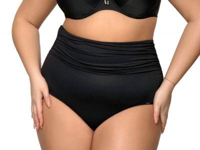 Ava Swimwear Basic Black High Waist korkeavyötäröiset bikinihousut musta  M-3XL SF-13/8-BLK