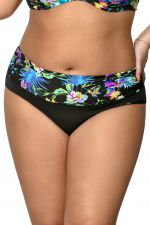 Blue Tropical Ruched Waist -bikinihousut