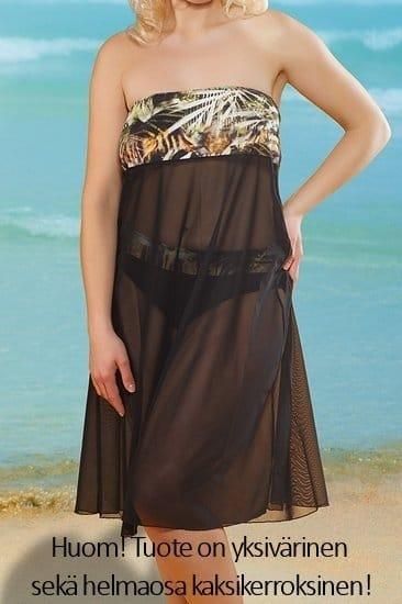 Plaisir Lingerie Solid- rantahame /-mekko musta Monikäyttöinen rantamekko tai rantahame 40-56 T0023