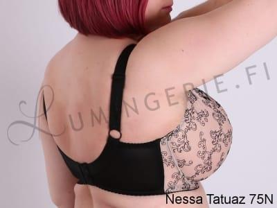 Tatuaz-rintaliivit beige-musta