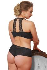 Valentine-rintaliivit selkäpitsikoristeilla musta